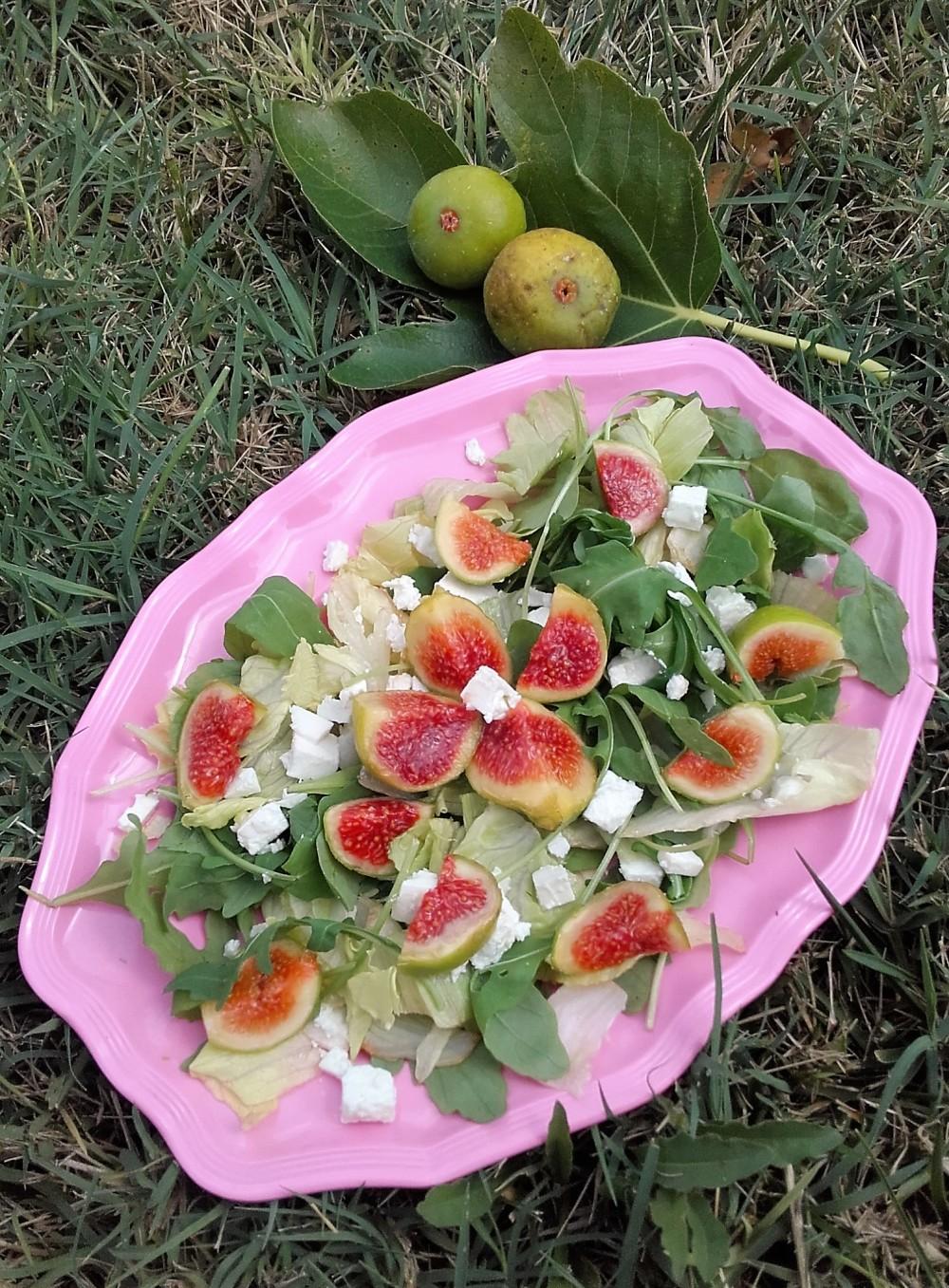 insalata fichi feta rucola
