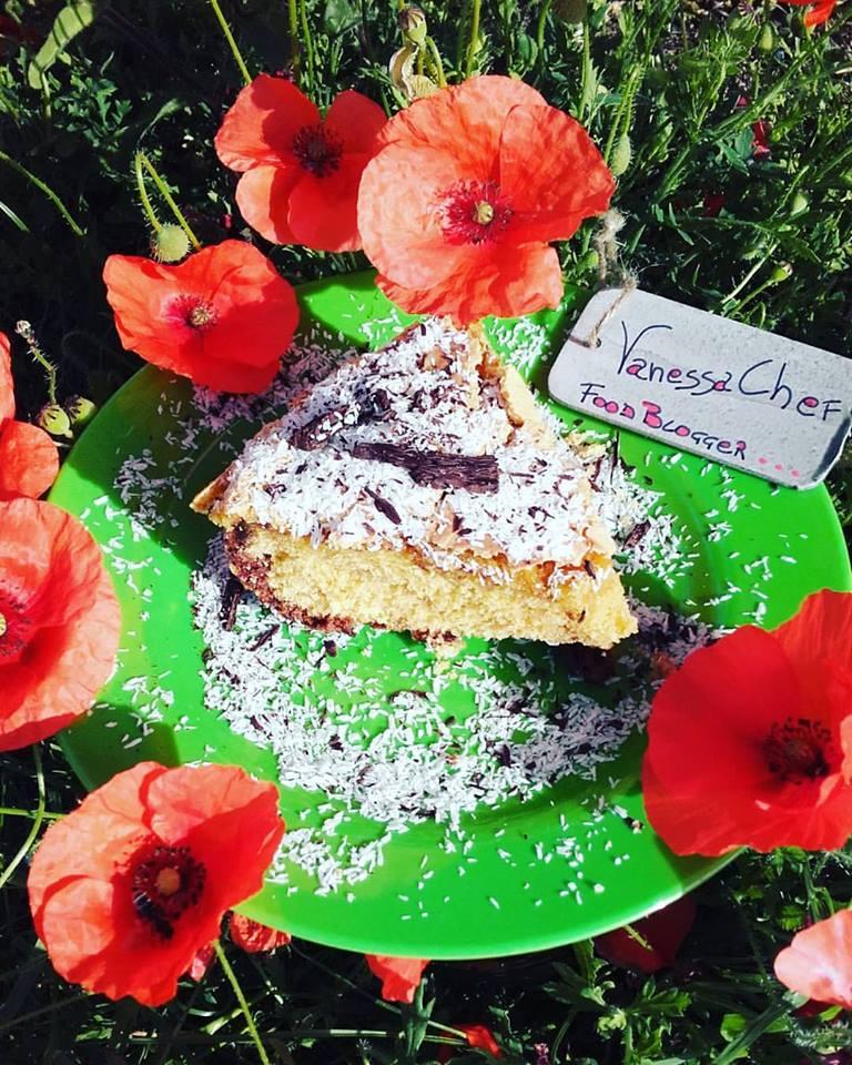 Torta Vanessa farina integrale e di cocco e cioccolato fondente
