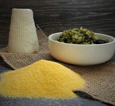 muffin salato broccoli e polenti