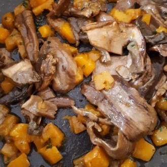 funghi porcini e zucca