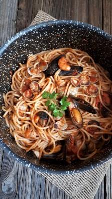 spaghetti di pesce foto vanessachef